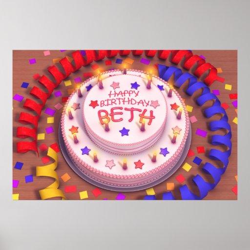 Beth's Birthday Cake Poster