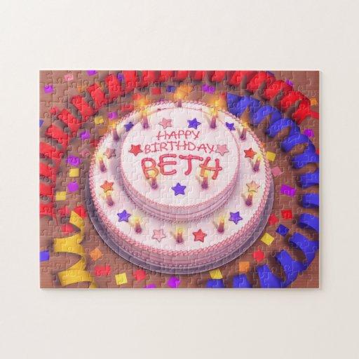 Beth's Birthday Cake Jigsaw Puzzles