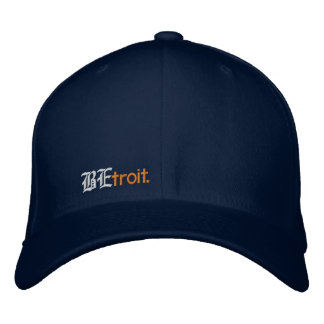 BEtroit. fitted Embroidered Hat