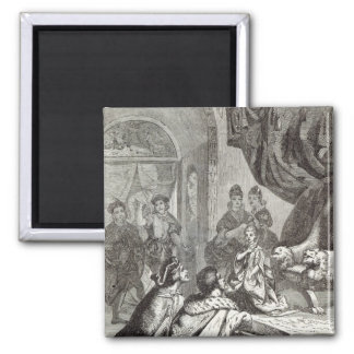 Betrothal of the French Princess to Richard II Square Magnet