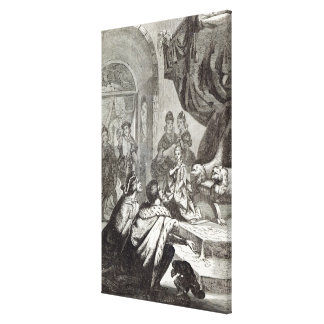 Betrothal of the French Princess to Richard II Stretched Canvas Print