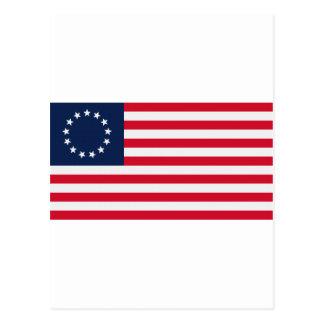 Betsy Ross 13 Stars American Flag Post Card