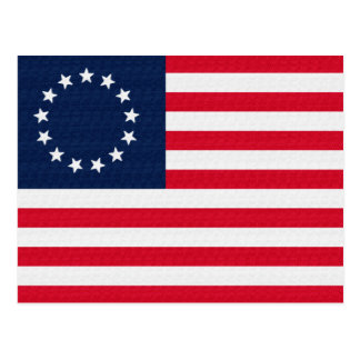 Betsy Ross 13 Stars American Flag Post Cards