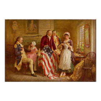 Betsy Ross 1777 by Jean Leon Gerome Ferris Poster