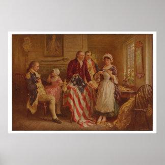 Betsy Ross, 1777, JLG Ferris, c1930 Poster