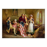 Betsy Ross and General George Washington Print
