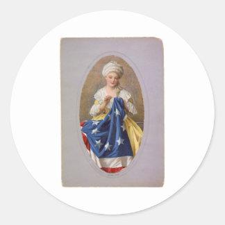 Betsy Ross, c1908, G. Liebscher Classic Round Sticker