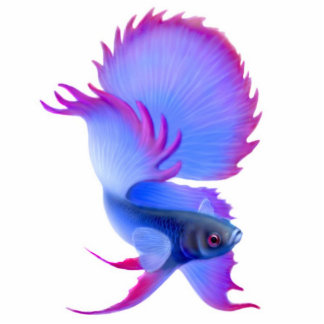 Betta Fighting Fish Holiday Ornament Photo Sculpture Decoration