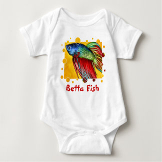 Betta Fish Baby Bodysuit
