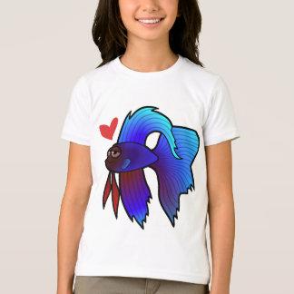 Betta Fish / Siamese Fighting Fish Love T-Shirt