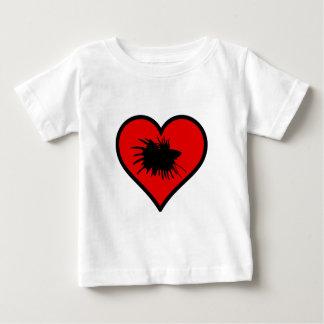 Betta Heart Love Fish Silhouette Baby T-Shirt
