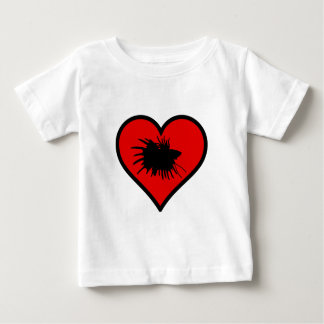 Betta Heart Love Fish Silhouette Shirts