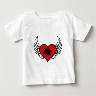 Betta Winged Heart Love Fish Silhouette Baby T-Shirt