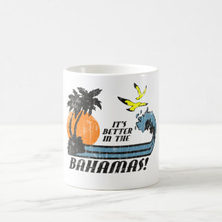 Better in Bahamas Faded Basic White Mug