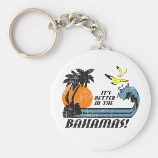 Better in Bahamas Faded Key Chain