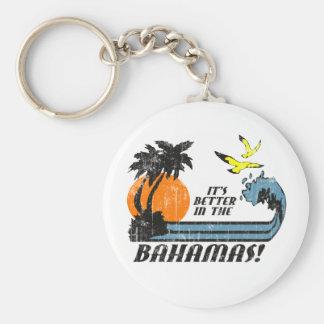 Better in Bahamas Faded Key Chain