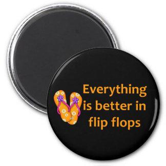 Better in Flip Flops Refrigerator Magnets