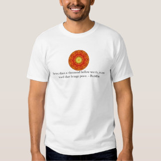 Better than a thousand hollow words, is one word.. tees