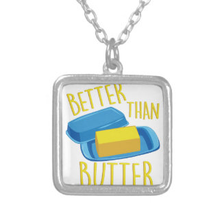 Better Than Butter Square Pendant Necklace