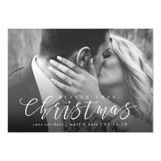 Better Than Christmas Save the Date Christmas Card