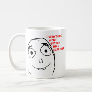 Better Than Expected Rage Face Meme Basic White Mug
