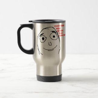 Better Than Expected Rage Face Meme Stainless Steel Travel Mug