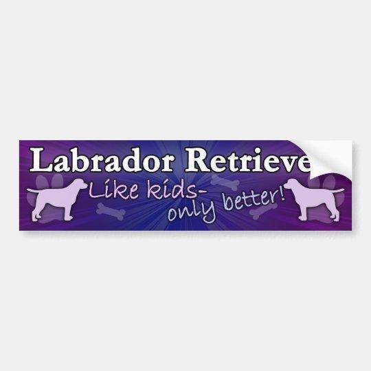 Better than Kids Labrador Retriever Bumper Sticker