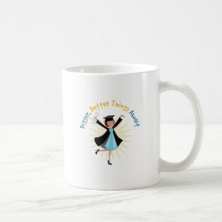 Better Things Await Basic White Mug