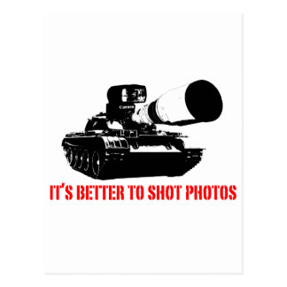 Better to shot Photos Post Card