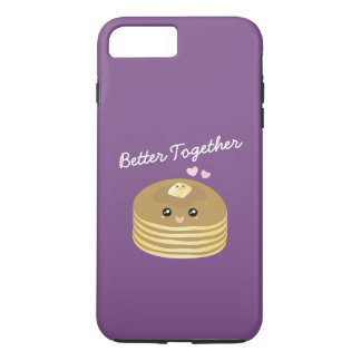 Better Together Cute Butter Pancakes Funny Foodie iPhone 8 Plus/7 Plus Case