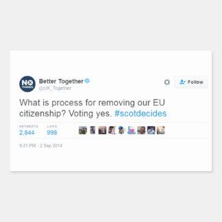 Better Together Lie Rectangular Sticker