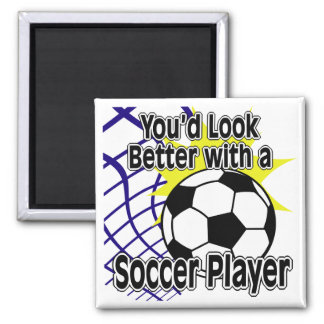 Better with a Soccer Player Magnets