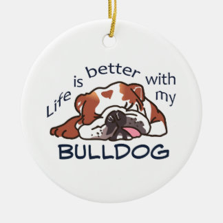 Better With Bulldog Christmas Ornament