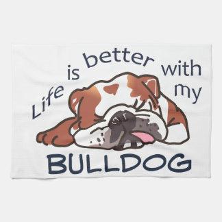 Better With Bulldog Tea Towel