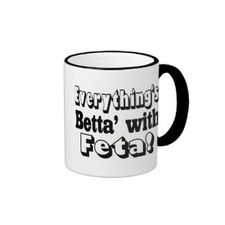 Better With Feta Ringer Coffee Mug