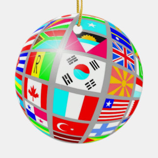Better World Double-Sided Ceramic Round Christmas Ornament