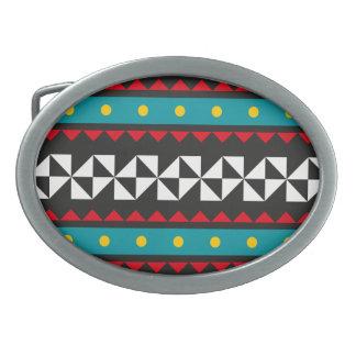 BettiBoo - Geometric Graphics Oval Belt Buckles