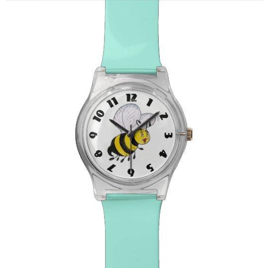 'Betty Bee' Clear/Aqua May 28th Watch