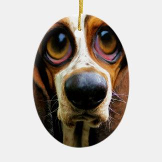 Betty Bloodhound Ceramic Oval Decoration