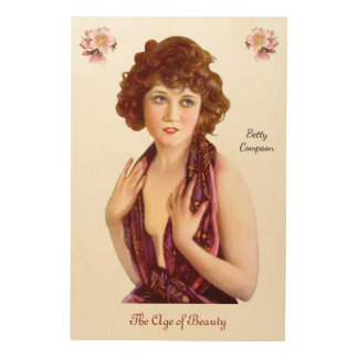 Betty Compson Wood Wall Decor