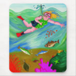 Betty Goes Snorkelling Mouse Mats