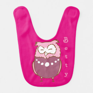 Betty owl bib