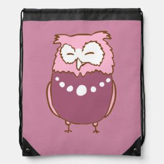 Betty owl drawstring bag
