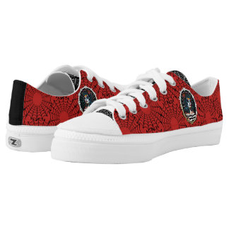 Betty Spider Queen _RED&BLACKSHOES Low Tops