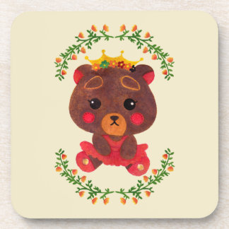 Betty the Little Bear Princess Drink Coaster
