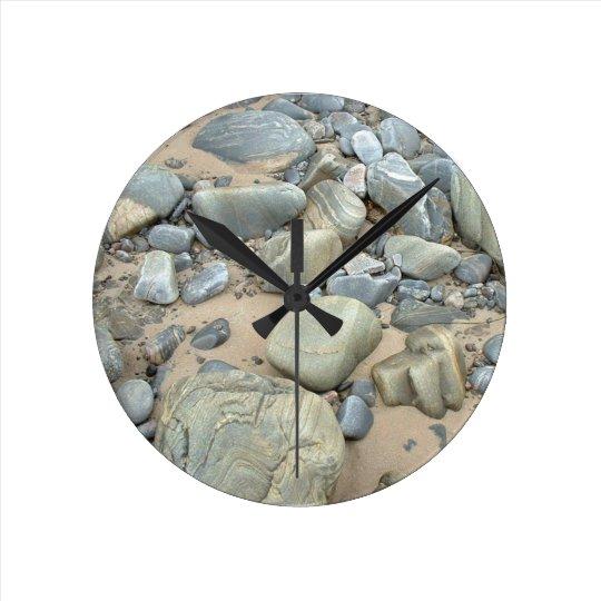 Bettyhill Beach Medium Round Wall Clock