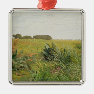 Between Geest and Marsh, c.1880 Silver-Colored Square Decoration