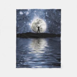 Between Heaven and Earth Small Fleece Blanket