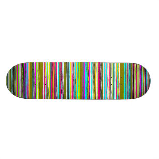 Between the Lines Green dark tones Skateboard Deck