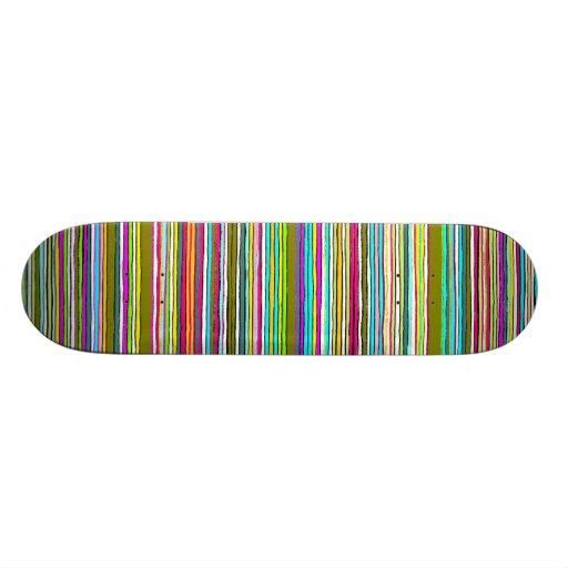 Between the Lines  Green/dark tones Skateboard Deck
